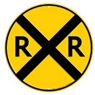 Railroad Round Sign