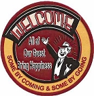 Welcome 12 inch Round Sign