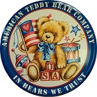 USA Bear Round Sign