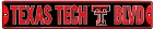 Texas Tech Red Raiders Street Sign