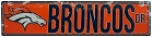 Denver Broncos Street Sign