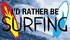 Rather Be Surfing Sticker