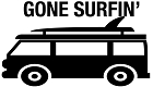 Gone Surfing Sticker