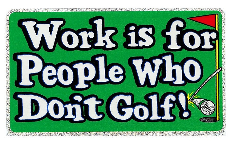 Golf Large Sticker