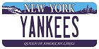NY Yankees Plate Large Sticker