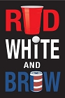 Red White And Brew Large Sticker