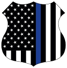 Thin Blue Line Shield Large Sticker