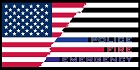 Thin Line With Flag Large Sticker