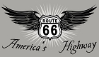 Route 66 America's Highway w/ Wings Sticker