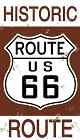 Route 66 US Historic Sign Sticker