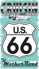 Route 66 Cruisin The Mother Rd Sticker