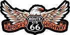 Route 66 America's Highway Eagle Large Sticker