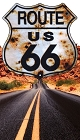 Route 66 Bullet Shield on Highway Sticker