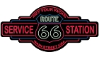 Route 66 Service Station Sticker