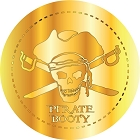 Gold Pirate Treasure Piece Large Sticker