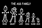 Ass Family Large Sticker
