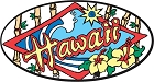 Hawai - Surf/Flowers Small Sticker
