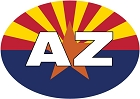 Arizona Flag Small Sticker