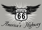 Route 66 America's Highway Small Sticker
