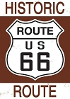 Route 66 US Historic Sign Small Sticker