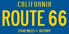 Route 66 CA Plate Sticker
