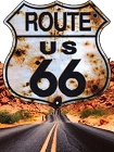 Route 66 Bullet Hole Shield Small Sticker