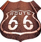 Route 66 Road Paint Small Sticker