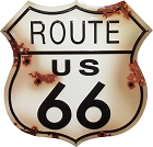 Route 66 24 inch Shield Die Cut Sign