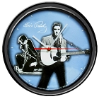 Elvis Blue 12 in Round Wall Clock