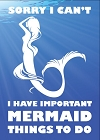 Mermaid Things to Do Magnet