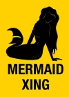 Mermaid Xing Magnet