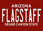 Flagstaff Arizona 80s-96 Red Plate Magnet