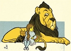 Classic Wiz of OZ Lion and Dorothy Magnet