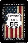 Route 66 Flag and Shield Sm. Parking Sign