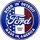 Ford Born in Detroit 24 inch Large Round Sign