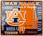 Auburn Univ War Eagles Fan Cloud College Sign
