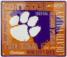 Clemson Fan Cloud College Sign