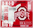 Ohio State Fan Cloud College Sign