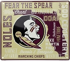 Florida State Seminoles Fan Cloud College Sign