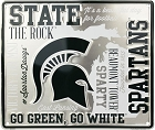 Michigan State Spartans Fan Cloud College Sign