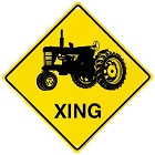 Tractor Crossing Sign