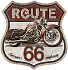Route 66 Bike Shield Sign