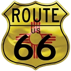 Route 66 NM Flag Shield Sign