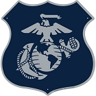 Marines Silver Emblem Highway Shield