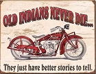 Indian Motorcycle - Old Indian Metal Tin Sign