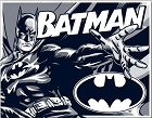 Batman Comic Logo Metal Tin Sign