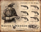 Smith & Wesson Revolver Manufacturer Metal Tin Sign