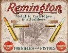 Remington - For Rifles & Pistols Metal Tin Sign
