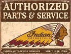 Indian Parts and Service Metal Tin Sign