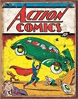 Action Comics No1 Cover Metal Sign